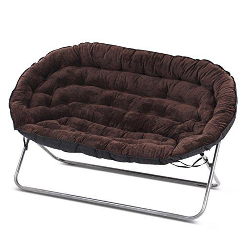 Lazy sofa divano pigro pieghevole camera da letto soggiorno mini bello balcone tempo libero reclinabile doppio li jing shop (colore : marrone scuro)