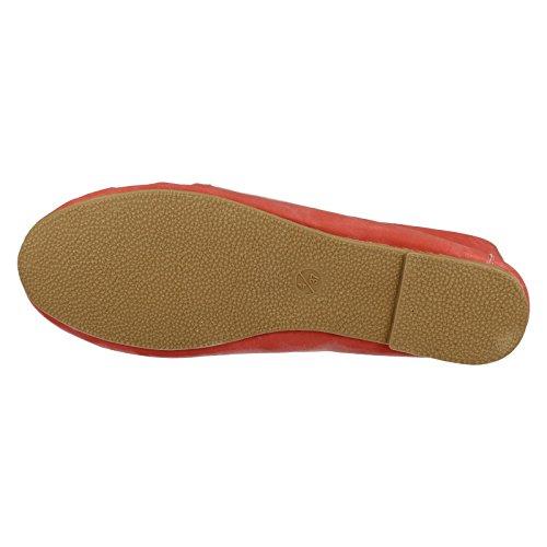 Générique-Chaussons chaussettes pour femme Style F8968 Rouge - Corail