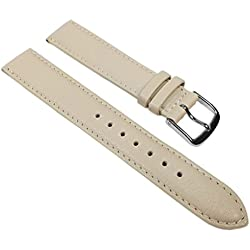 Miami Replacement Band Watch Band kalf nappa Strap Beige 22578S, width:12mm
