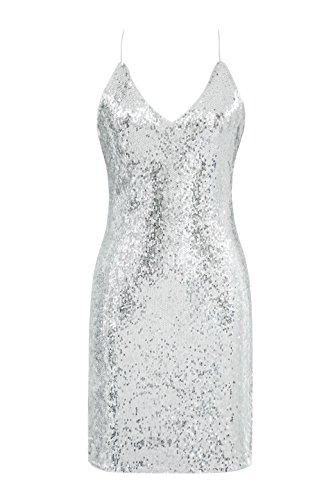 Metme Damen Vintage inspirierte 1920er Jahre Sexy Hosenträger Minikleid Gatsby Theme Flapper Dress