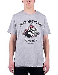 Nitro Snowboards Bear Mtn Camiseta, Hombre, Gris, XL