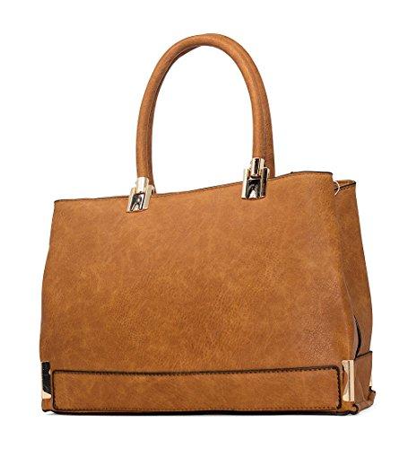 Bella Bags , Damen Tote-Tasche One Size, Braun - braun - Größe: One Size (Bella Tote Bag)