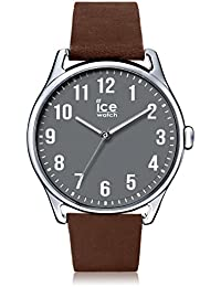Ice-Watch - ICE time Caramel Anthracite - Montre marron pour homme avec bracelet en cuir - 013049 (Large)