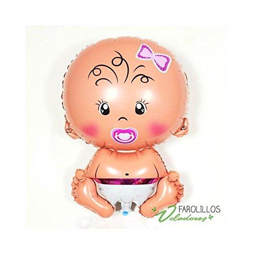 farolillos voladores Globo poliamida bebé. 65cm. - Niña