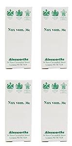 (4 PACK) - Ainsworths - Nux Vomica 30C Homoeopathic | 120's | 4 PACK BUNDLE