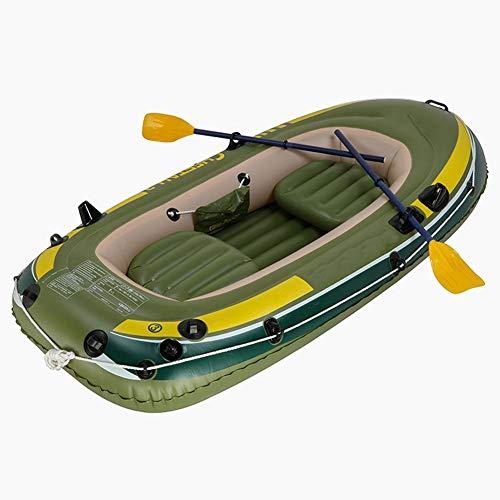 ZOUBIAG 3 Personen Schlauchboot, PVC Dickwasserskiboot, Geeignet for Outdoor Angeln, Wasser Erholung (Color : Green, Size : A)