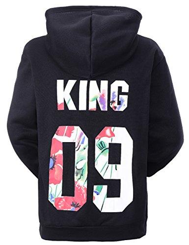 Wangyue King Queen passende Paar Pullover Hoodie Set Hoodies King Hoodie 09 Nur 1 Stück M - 09 Hoody