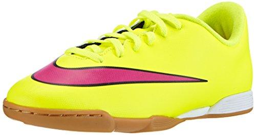 Ic-tee (Nike Jr. Mercurial Vortex II IC, Unisex-Kinder Fußballschuhe, Gelb (Volt/Hyper Pink-Black 760), 35 EU)