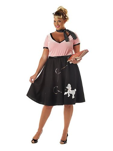 50S SWEETHEART COSTUME (PLUS SIZE) - DRESS 20 TO 22