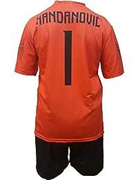 Conjunto Equipacion Camiseta Pantalones Futbol Inter F.C. Samir Handanovic Replica Oficial Autorizado 2018-2019 Niños