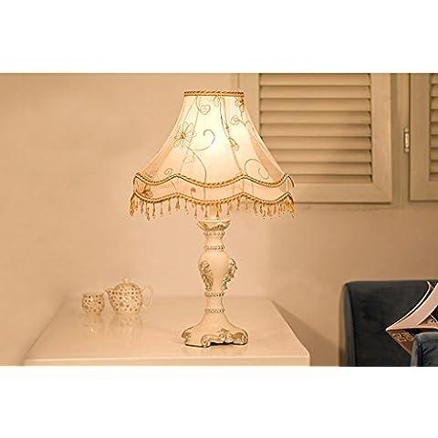 Lámpara de jardín de estilo europeo - Dormitorio de cabecera de dormitorio - Lámparas de tela de baño - Dimmable - Lámparas decorativas de princesa