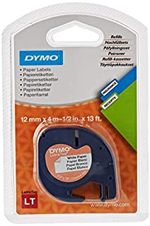 DYMO 12mm LetraTAG Paper tape - Cinta para impresoras de etiquetas (Papel, 1,2 cm, 4m, Ampolla, 1,9 cm, 14,9 cm), 1 unidad (B000KJIB7A) | Amazon price tracker / tracking, Amazon price history charts, Amazon price watches, Amazon price drop alerts