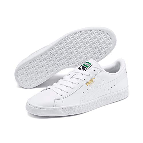 Puma Unisex-Erwachsene Basket Classic LFS Sneakers, white-white, 41 EU