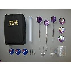 3 cromo-steel-Dart-dardos con dardos-estuche y accesorios (5