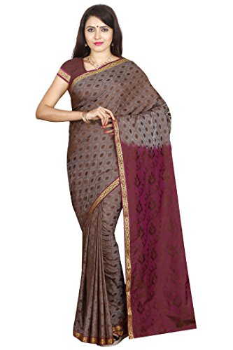 Arars Women's Silk Kanchipuram Saree With Blouse Piece (Pbe01 Chocolate_Chocolate)