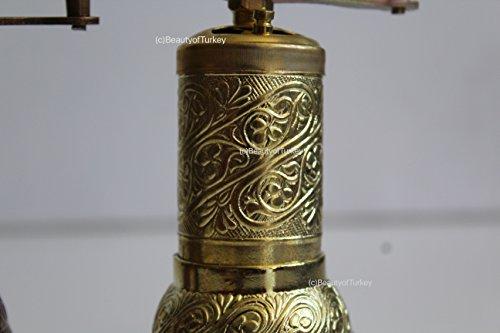 Beauty antik salzmühle, Salzmühle und Gewürzmühle, pfeffermühle, kaffeemühle, Coffee Grinder, Pepper Grinder (Shiny Gold) Gold Coffee Grinder