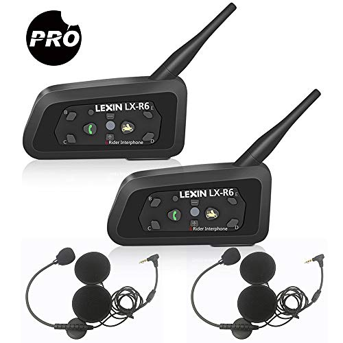 Lexin R6 Pro intercomunicador casco moto,Intercomunicador moto, Gama Comunicación Intercom de 1200m,...