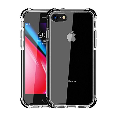 4e3cc3dcc8 iPhone 7 Case, iPhone 8 Case Egotude Shock Proof Hard Back Soft Bumper Cover  Cases ...