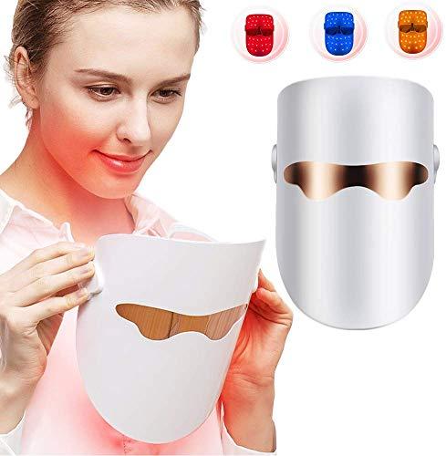 Lichttherapie-Gesichtsmaske, 7 Farben Akne-Behandlungen Led Photon-Maske Gesichtspflege Anti-Aging-Kit Mit Whitening Schönheit LED-Gesichtsmaske Mit Hals Maske Instrument -