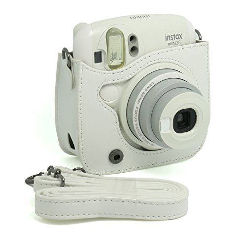 CAIUL PU Leather Instant Camera Case For Fujifilm Instax Mini 25 Instant Camera,White  available at amazon for Rs.2963