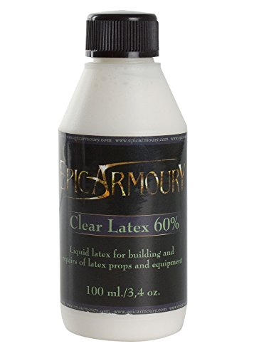 Flüssiges Latex, klar 100 ml Pflegemittel Reperaturmittel für LARP Waffen (Klar Flüssig Latex)