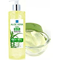 Gel Puro di Aloe Vera Fresca 500 ml. - Dopo la rasatura e la depilazione - Idratante Viso e Corpo - bleumarine Bretania