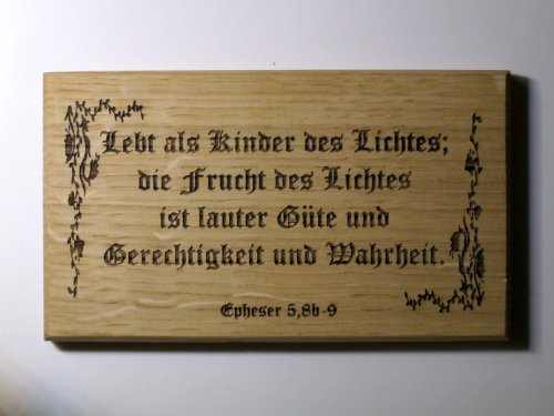 Geschenk Sprüche Kommunion Konfirmation -Lebt als Kinder des Lichtes- Altdeutsch