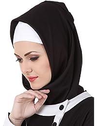 MyBatua Noir Rayon Hijab Islamique, Carré \u0026 Rectangulaire, Prière Hijab,  Designer, Mode Foulards et\u2026