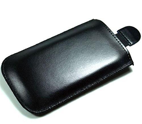 andyhandyshop Echt-Leder Handy-Tasche für Smartphone BQ Readers Aquaris X5 Cyanogen