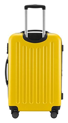 HAUPTSTADTKOFFER® Hartschalen Koffer SPREE 1203 · SET · MATT · TSA Zahlenschloss · + GEPÄCKGURT (Burgund) Gelb