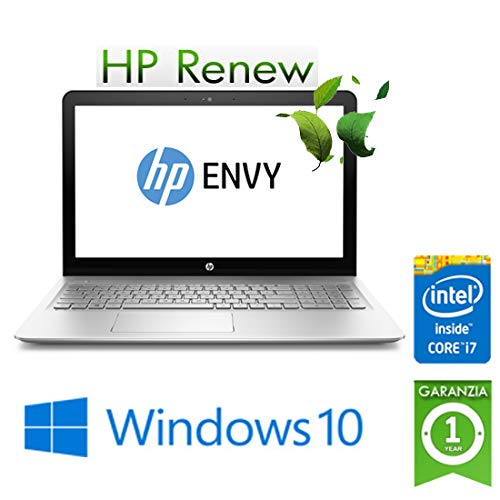 "Notebook HP ENVY 15-as111nl Core i7-7500U 8Gb Ram 1Tb 15.6"" Windows 10 Home (ricondizionato certificato)"