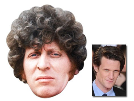 Tom Baker Doctor Who Karte Partei Gesichtsmasken (Maske) (The Fourth Doctor) - Enthält 6X4 (15X10Cm) starfoto