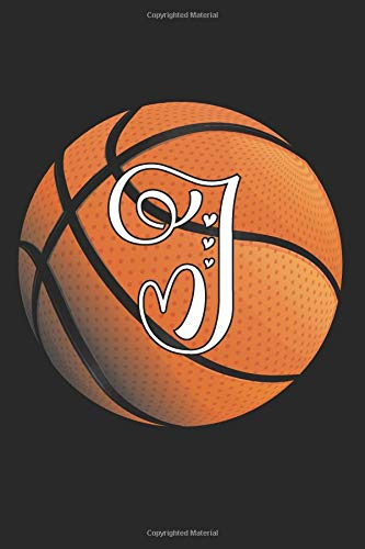 I: Basketball Journal Monogram Initial I Personalized Basketball Gift for Players Coaches Students Teachers (Basketball Notebook) por Happy Healthy Press