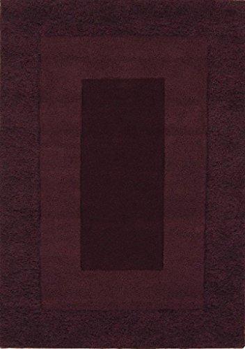 Alfombra salon sala de estar Carpet pelo largo Design KARMA UNI SHAGGY RUG 100% Lana 110x170 cm Rectangular Púrpura | Alfombras barata online comprar