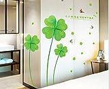 ZBYLL Wall Sticker Schlafzimmer Bett Schrank Badezimmer Dekoration Aufkleber grünen Klee