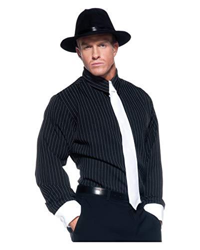 Shirt Kostüm Gestreifte Gangster - Horror-Shop Gangster Hemd Premium