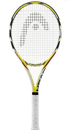 HEAD Microgel Extreme Tennisschläger (unbespannt), 230000-4.375, Gelb/Schwarz/Weiß, 4 3/8