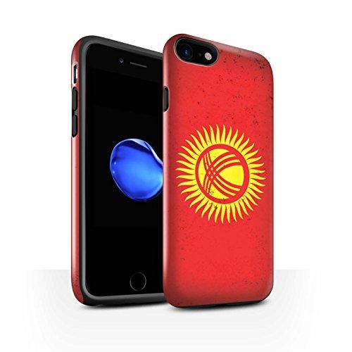 STUFF4 Glanz Harten Stoßfest Hülle / Case für Apple iPhone 8 Plus / Kuwait Muster / Asien Flagge Kollektion Kirgisistan