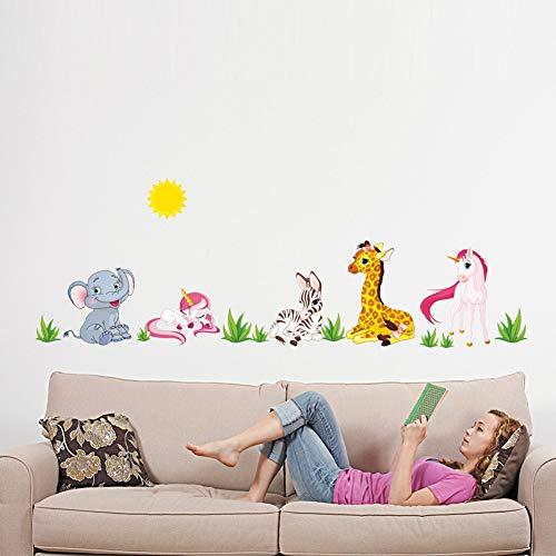 Wall Sticker ZOZOSO Geschichte der Tierwelt von Bosnien und Herzegowina von Para Niños Dormitorios Jardín Von Infancia Caballo Elefante Dekoratives Para El Hogar Diy Papel Tapiz Decals