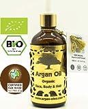 R&M Arganöl - Premium Argan Öl Für Gesicht, Körper, Haar Und Vieles Mehr - 100% Bio & 100% Fairtrade - Für Eine Schönere Haut, Ein Reines Gesicht Und Glänzendes, Geschmeidiges Haar - 100ml Flasche