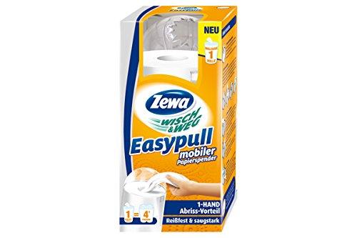 Zewa Wisch und Weg Easypull Küchenrollen Spender, mobiler Papierspender mit Ein-Hand-Abreiß-Technik, weiß