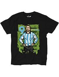 KiarenzaFD Maglietta T-Shirt Calcio Amarcord Batigol 9 Glory Day Argentina  Vintage L Black 71f5f4d3efb5