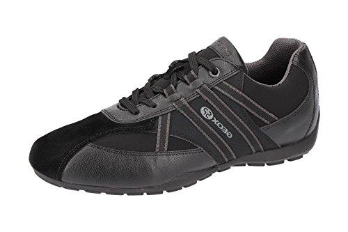 Geox U743FB Uomo Ravex Sportlicher Herren Sneaker, Schnürhalbschuh, Freizeitschuh, Atmungsaktiv, Herausnehmbare Innensohle Schwarz (Black), EU 45