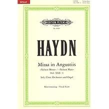 """Missa in Angustiis d-Moll Hob. XXII:11 """"Nelson-Messe"""" / URTEXT: für Soli, Chor, Orchester und Orgel / Klavierauszug von Wilhelm Weismann"""