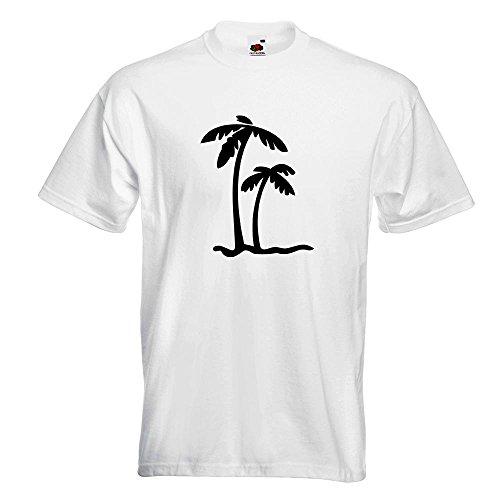 ... Motive Oberteil Baumwolle Print Größe S M L XL XXL Weiß. KIWISTAR -  Palmen T-Shirt in 15 verschiedenen Farben - Herren Funshirt bedruckt Design  Sprüche