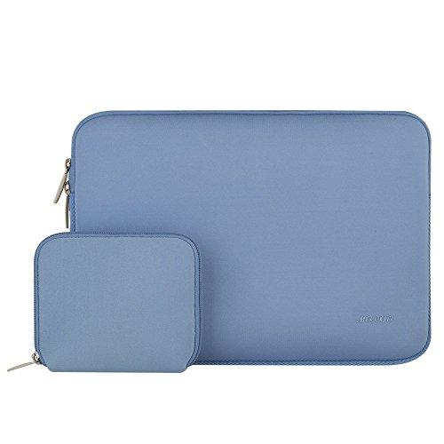Mosiso MacBook Laptop Sleeve, Water Repellent Lycra Cover Housse Sac pour 11-11,6 pouces MacBook Air, Ultrabook Netbook Tablette avec un petit boîtier, Bleu sérénité