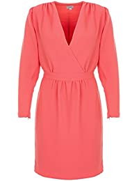 Hoss Intropia vestido para mujer en Wrap Look Coral