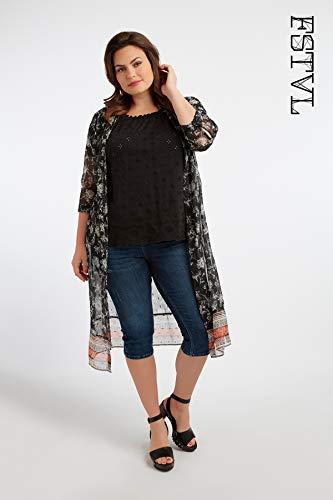 Ms Mode Damen Bluse Plus Size Große Größen 40 Bis 54 - T-shirt-kleid Mit Schlitzen