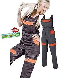 Les femmes salopettes travail pantalons dames et filles Pantalon de travail Salopette pantalon de de jardinage , combinaison 36 EU