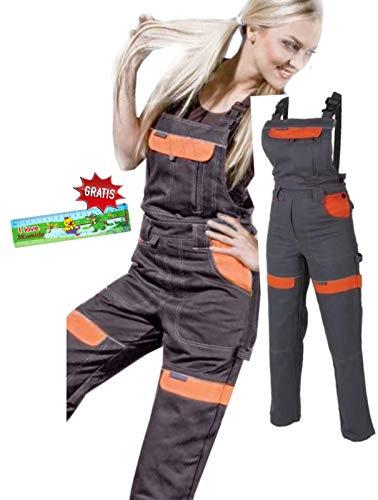 Salopette da lavoro Le donne delle signore delle ragazze Pantaloni Salopette i pantaloni giardinaggio 42 EU
